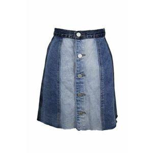 BlankNYC Raw Hem Denim Panel Skirt sz 31 NWT $98